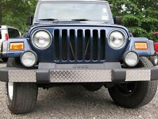97-06 Jeep TJ Wrangler 3 Piece Diamond Plate Front Bumper Cover FREE SHIPPING :)