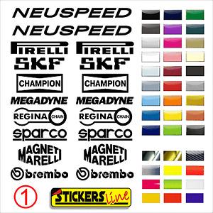 ADESIVI KIT SPONSOR TECNICI MOTO adesivo carena moto motorcycle stickers mod. 1