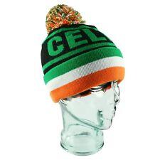 Celtic Bobble Hat Black Tri Ireland Flag Gift Souvenir