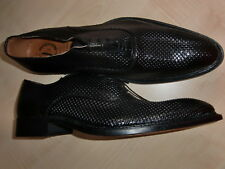Mario Alborino, eleganter Schnürschuh für Herren, Gr. 43, schwarz, Leder, neu