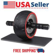 2-in-1 Ab Roller Wheel Abdominal Exercise Trainer Kneepad Soft Rubber Non-skid