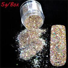 Hot 5g Mix Size Glitter Nail Art Glitter Powder Red Pink Acrylic Nail Decoration