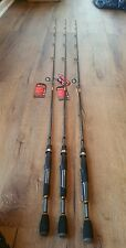 Lot Of 3 QUANTUM 6' HELLCAT Medium Spinning Rod Bass Shakey Head Crappie