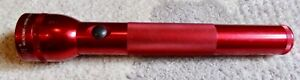 """Mag-Lite 3 D-Cell Battery 12.25"""" Flashlight - Red"""