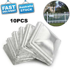 10x Metal Fence Gate Square Pyramid Post Cap Fence Tube Finial Pathway 100*100MM