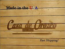 Casa de- Last Name Sign, Spanish, Established, Wedding Date, Wedding Gift, S1171