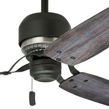 "52"" Casablanca Aged Steel Contemporary Ceiling Fan- 7"" Downrod Included"
