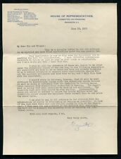 JUNE 15, 1912 HOUSE OF REPRESENTATIVES SOLDIER DISABILITY PENSION LETTER