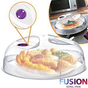 Microwave Lid Plastic Ventilated Food Plate Dish Cover Kitchen Safe Cooking