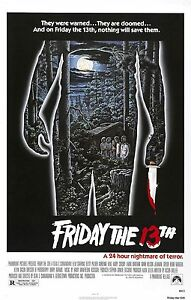 FRIDAY THE 13TH Movie Poster Horror Jason Voorhees
