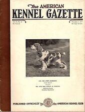 Vintage American Kennel Gazette November 1937 Cocker Spaniel Cover