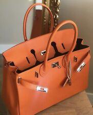 CTM Sac à main et d'épaule à la femme,en cuir véritable 100%... Orange