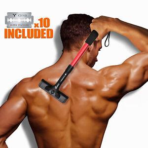 Back Hair Removal Back Groomer for Men With 10 Refills Universal Razor