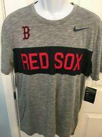 Boston Red Sox Mens Nike Slub Stripe Dri-Fit Cotton T-Shirt - XXL/XL/Large - NWT