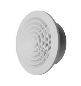 Duct Exhaust / Supply Valve with Flange Diffuser Anemostat Round Air Vent Grille
