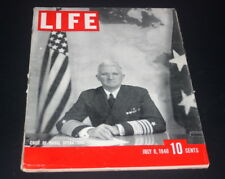LIFE MAGAZINE JULY 8  TH  1940 CHIEF OF NAVAL OPERATIONS ADMIRAL STARK