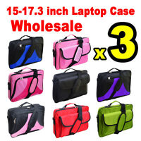"3x 17.3"" 17"" 16.4"" 16'' 15.6"" 15'' Laptop Briefcase for  Macbook, Chromebook, HP"
