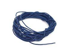 4 Mètres de Fil CORDON COTON CIRE Bleu Foncé diamètre 1 mm - Bijoux Perles