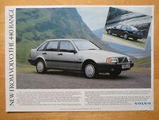 VOLVO 440 Range 1988 UK Mkt sales leaflet brochure - GLT Turbo