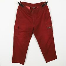 Vintage NAPAPIJRI Small Logo Chino Trousers Red | 50 | Large L | Dyed