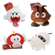 Super Mario Bros Goomba Ghost Blooper Cheepap Figure Stuffed Plush Doll Toy 4pcs