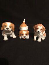 Homco 1407 / 8828 Cocker Spaniel Puppy Figurines (set Of 3)