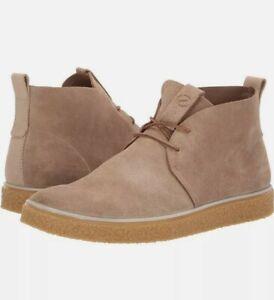 Ecco Crepetray Chukka Boots Sneakers Cashmere Tan Suede EU 45 Men's 11 - 11.5 US