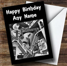 Optical Illusion Staircase Personalised Birthday Greetings Card