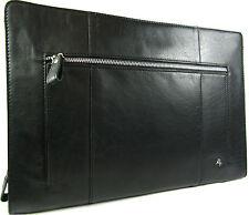 New Visconti Hanz Black/Brown/Tan Buffalo leather folio organizer bag Style ML26
