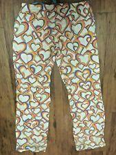 Victoria Secret PINK RAINBOW Pajama Pants PJ XS cotton hearts love multi-color