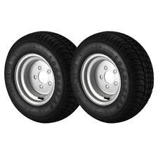 2 Pack - 20.5X8.00-10 Loadstar Trailer Tire LRE on 5 Bolt Silver Wheel