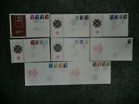 16 Different Regional Machin First Day Covers Wales(8) & Scotland (8) - 2 Scans