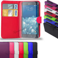 Samsung Galaxy Note Edge - Leather Wallet Case Cover  &  Free Screen Protector