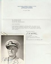 ADMIRAL CHESTER W NIMITZ WWII  Hand Signed Autographed PHOTO ~ W/COA 1962
