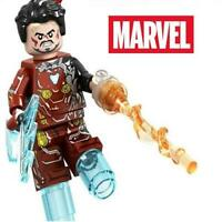 Iron Man Tony Stark MK 50 Endgame Comics Custom Minifig Mini Figure 136