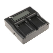 Black Smart LCD Display Dual Channel Charger for Sony NP-FW50 Battery