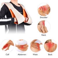 4D Electric Knock Neck Back  Massager Shoulder Massage Heat And Timing Fad I2mz