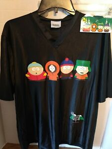 Vintage 1997 Comedy Central South Park Stanley Desantis Shirt L Black & Sticker