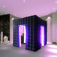 110V 2.5M Inflatable LED Air Photo Booth Light Tent Weddings Events Party