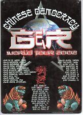 Gun & Roses G & R Chinese Democracy metal sign tin poster Ship free NOS 8.5x11.5