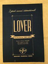 SPARTITO MUSICALE LOVER RODGERS VITALE DAL FILM PAROLE E MUSIC 1952