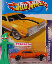 2012 Hot Wheels '68 MERCURY COUGAR #119 Scan ∞ORANGE∞Muscle Mania Ford