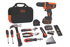 BLACK+DECKER 12V MAX Drill & Home Tool Kit, 60-Piece (BDCDD12PK) - NEW 100%