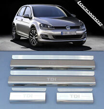 VW Golf 13> TDI (5Dr) Stainless Steel Kick Plate Car Door Sill Protectors - 8pce