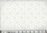 "108"" Extra Wide Quilt Backing  BTY 100% COTTON Gray and White Flowers"