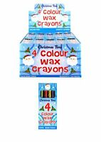 Christmas Wax Crayons Kids Party Bag Fillers Toys Lucky Dip Prizes 1 - 250 Packs