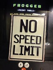 No Speed Limit Gasoline Oil Mechanic Mancave Sign Old  13 X 10 Metal Tin Sign