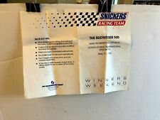 Snickers 500 Winston Cup Race ay Tips Sheet Folded ONLY Authentic Original
