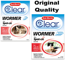 More details for bob martin clear cat wormer spot on for cat & kitten over 1kg worming treatment