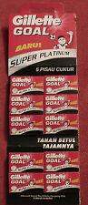 Gillette GOAL Super Platinum 50 Double Edge Razor Blades 10 packets of 5 pcs